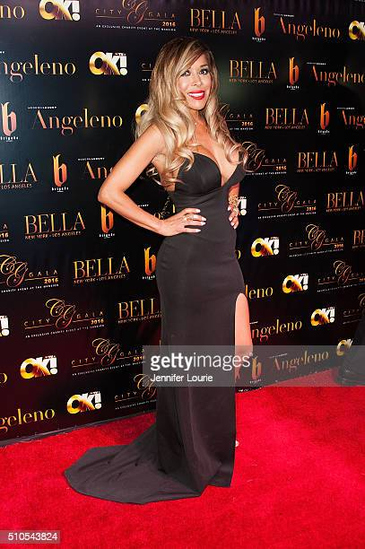 Olga Loera arrives at the 2016 City Gala Fundraiser at The Playboy Mansion on February 15 2016 in Los Angeles California