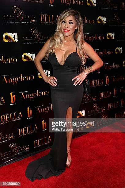 Olga Loera attends the City Gala Fundraiser 2016 at The Playboy Mansion on February 15 2016 in Los Angeles California