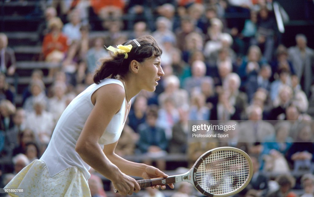 Olga Morozova of the Soviet Union during the Wimbledon Lawn Tennis Championships at the All England Lawn Tennis and Croquet Club, circa June, 1974 in London, England.