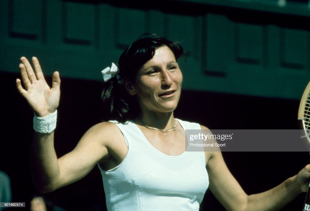Olga Morozova of the Soviet Union reacts during the Wimbledon Lawn Tennis Championships at the All England Lawn Tennis and Croquet Club, circa June, 1974 in London, England.