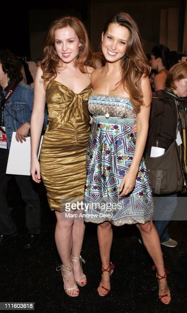 Olga Nemcova and Petra Nemcova during MercedesBens Fashion Week Fall 2007 Nicole Miller Front Row at The Promenade in New York City New York United...