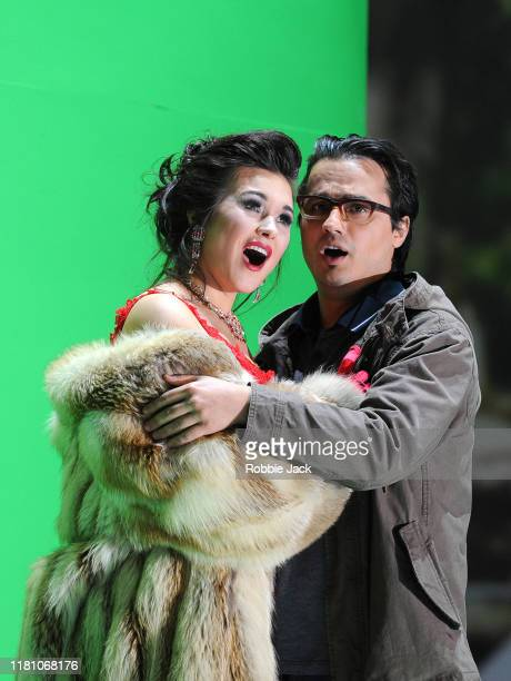 Olga Peretyatko as Norina and Ioan Hotea as Ernesto in Gaetano Donizetti's Don Pasquale directed by Damiano Michieletto and conducted by Evelino Pido...