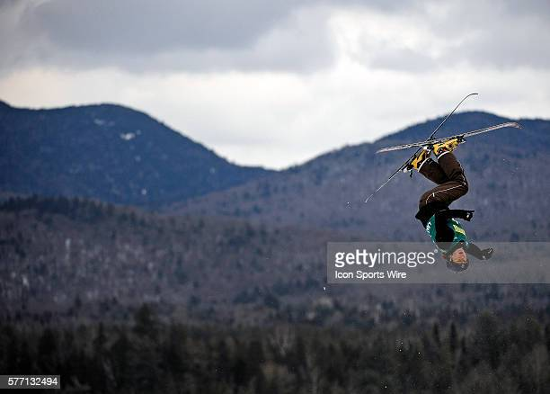 Olga Polyuk from the Ukraine takes a practice jump prior the FIS World Cup Freestyle Ladies' Aerial Competition at the MacKenzie Ski Jump Complex in...