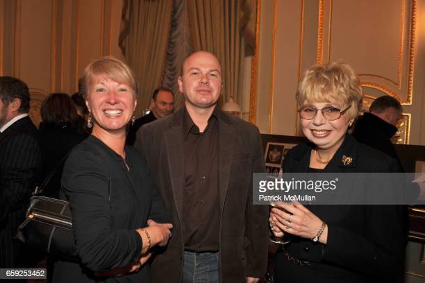 Olga Potapova Alex Kachalin and Marina Kikilo attend Reception and Private Exhibition in honor of ALEX SOLDIER at Consulate General of The Russian...