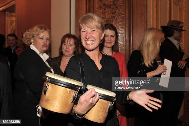 Olga Potapova attends Reception and Private Exhibition in honor of ALEX SOLDIER at Consulate General of The Russian Federation on February 26 2009 in...