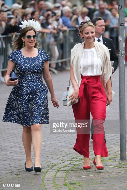 Olga Prinzessin zu Leiningen during the wedding of Prince Ernst August of Hanover jr Duke of BrunswickLueneburg and his fiancee Ekaterina Malysheva...