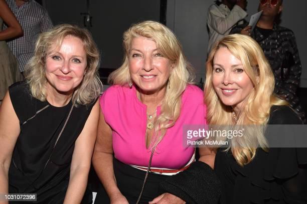 Olga Raykhelson, Terri Norden and Debra Wasser attend the Nicole Miller Spring 2019 Runway Show at Industria Studios on September 6, 2018 in New York...