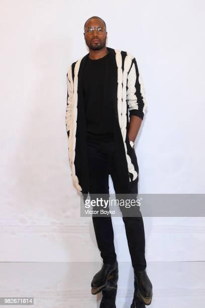 Olga Shalnova attends the Balmain Menswear Spring/Summer 2019 show as part of Paris Fashion Week on June 24 2018 in Paris France