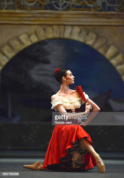 Olga Smirnova as Kitri in The Bolshoi Ballet's production of Marius Petipa's Don Quixote staged by Alexei Fadeyechev at The Royal Opera House on July...