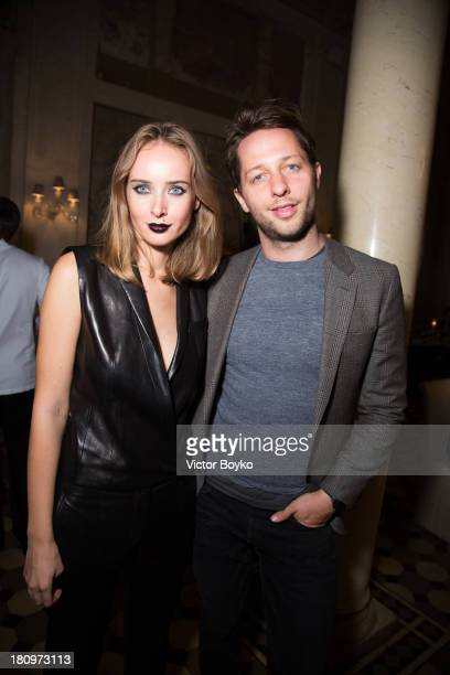 Olga Sorokina and Derek Blasberg attends the dinner celebrating the opening of Vadim Zakharov's 'Dead Languages Dance' special project as part of the...