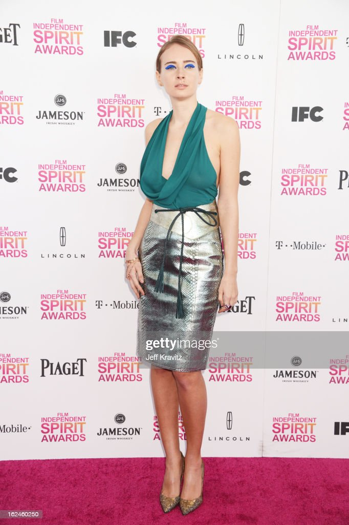Olga Sorokina attends the 2013 Film Independent Spirit Awards at Santa Monica Beach on February 23, 2013 in Santa Monica, California.