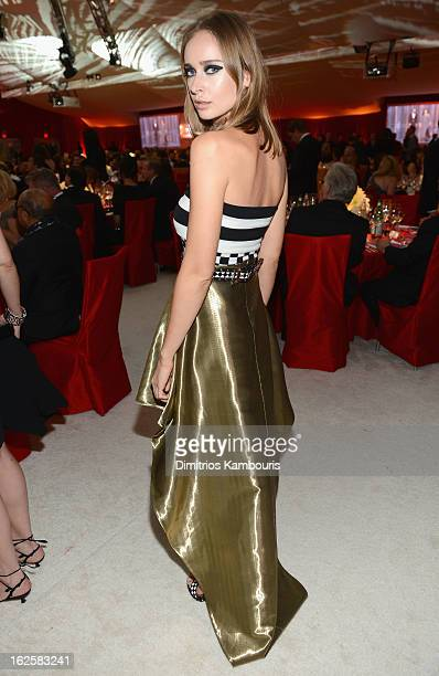 Olga Sorokina attends the 21st Annual Elton John AIDS Foundation Academy Awards Viewing Party at West Hollywood Park on February 24 2013 in West...