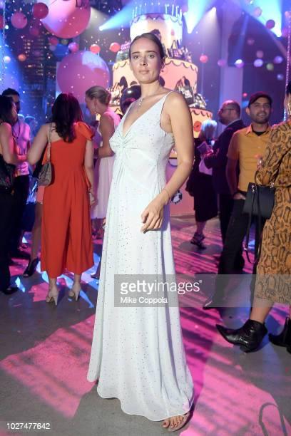 Olga Sorokina attends the Alber Elbaz X LeSportsac New York Fashion Week Party at Gallery I at Spring Studios on September 5 2018 in New York City