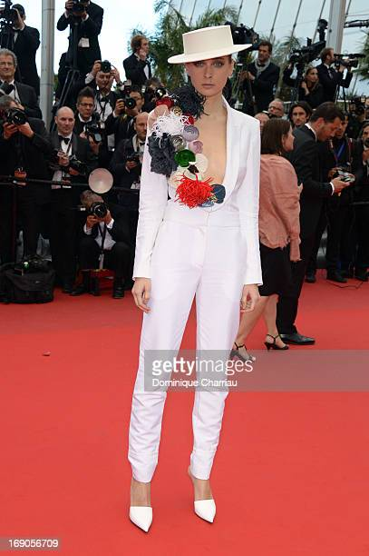 Olga Sorokina attends the Premiere of 'Inside Llewyn Davis' during the 66th Annual Cannes Film Festival at Palais des Festivals on May 19 2013 in...