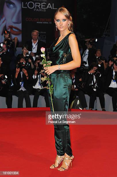 Olga Sorokina attends the Superstar premiere during the 69th Venice Film Festival at the Palazzo del Cinema on August 30 2012 in Venice Italy