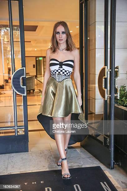 Olga Sorokina visits Los Angeles during Academy Awards week on February 24 2013 in Los Angeles California
