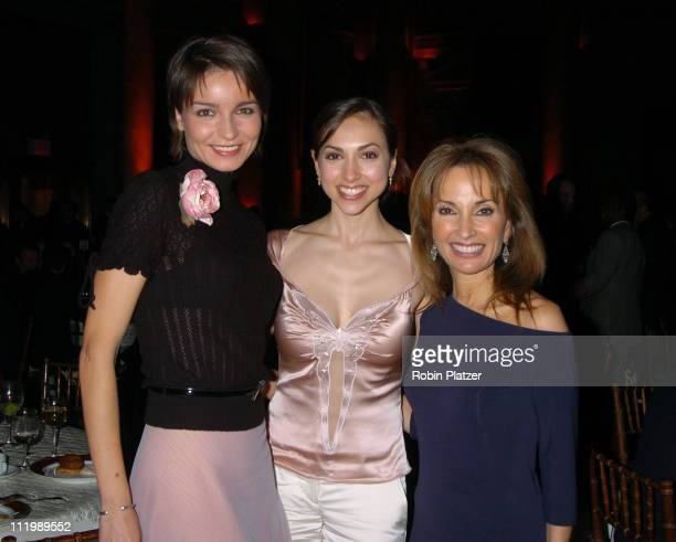 Olga Sosnovska Eden Riegel and Susan Lucci during The 17th Annual HetrickMartin Institutes Emery Awards at Capitale in New York City New York United...