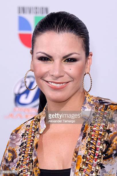 Olga Tanon arrives at Univision's Premios Juventud Awards 2009 at Bank United Center on July 16 2009 in Coral Gables Florida