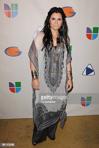 Olga Tanon arrives at Univision's Unidos Por Hait event through the American Red Cross on January 23 2010 in Miami Florida
