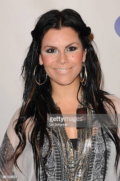 Olga Tanon arrives at Univision's 'Unidos Por Hait' event through the American Red Cross on January 23 2010 in Miami Florida