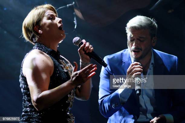 Olga Tanon Performs A Duet With Pedro Capo As Part Of Her Concert At Centro De