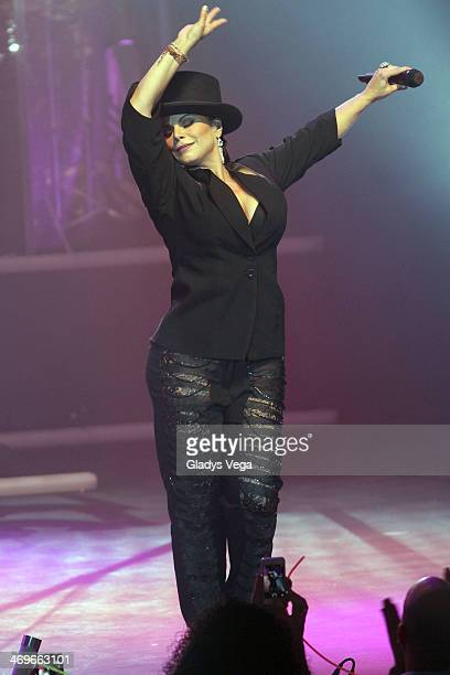 Olga Tanon performs in her concert 'A Celebrar' at Bellas Artes on February 15 2014 in Caguas Puerto Rico