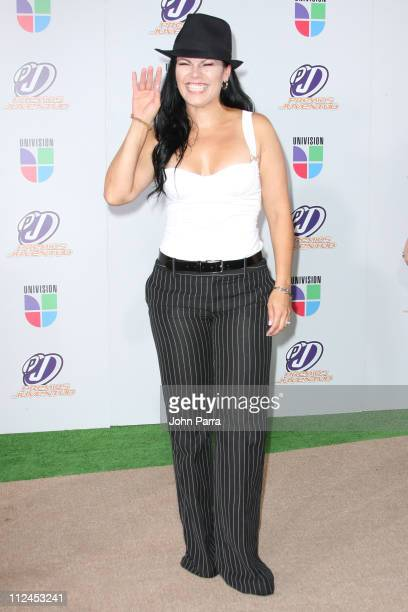 Olga Tanon poses on the red carpet at the Premio Juventud Awards at Bank United Center on July 17 2008 in Miami Florida