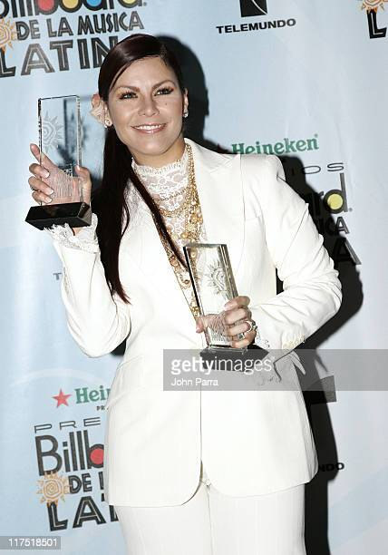 Olga Tanon winner Tropical Album of the Year Female for 'Como Olvidar Lo Mejor de Olga Tanon' and Tropical Airplay Song of the Year Female for...