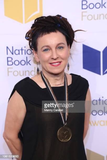 Olga Tokarczuk attends the 69th Annual National Book Awards at Cipriani Wall Street on November 14 2018 in New York City