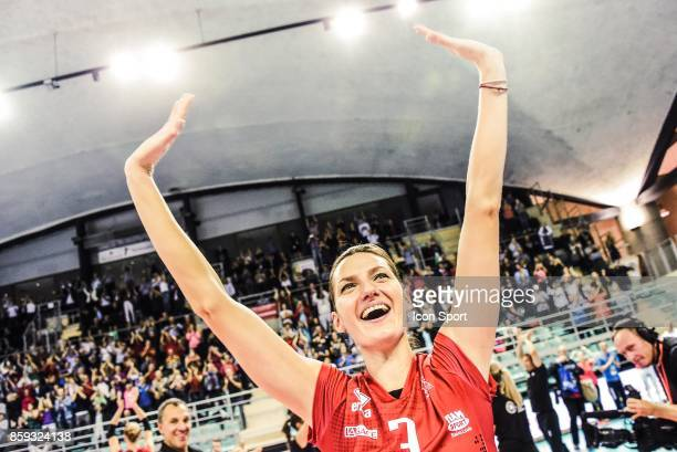 Olga Trach of Mulhouse during the volleyball women's supercup match between Mulhouse and Venelles on October 7 2017 in Mulhouse France