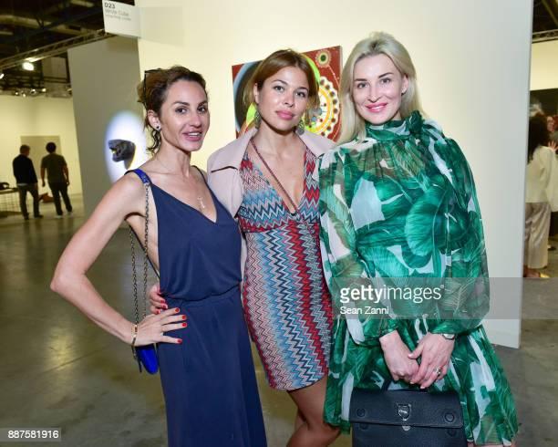 Olga Vesnina Daria Olsoskya and Guest attend Art Basel Miami Beach Private Day at Miami Beach Convention Center on December 6 2017 in Miami Beach...