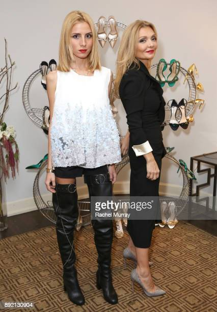 Olgana Paris Designer Olga Djanguirov and daughter Ines Djanguirov attend the Olgana Paris cocktail party at the Chateau Marmont on December 13 2017...
