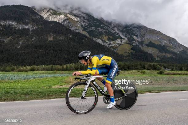 Olha Kulynych of the Ukraine during the junior Women's Individual Time Trial of UCI 2018 Road World Championships on September 24, 2018 in Tyrol,...