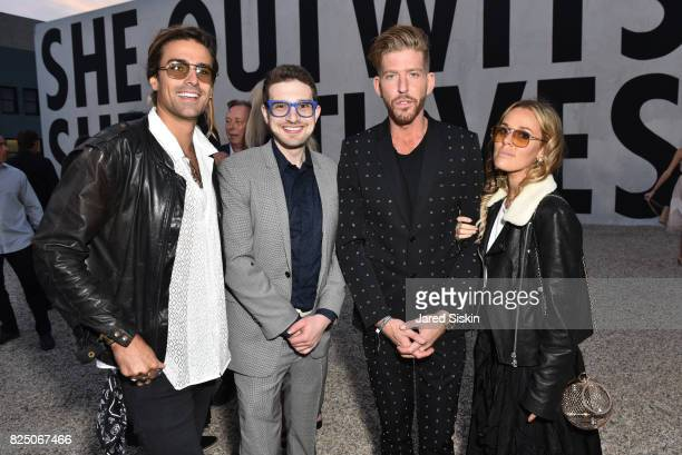 Oli Benz, Alex Soros, Adam Spoont and Sasha Benz attend The 24th Annual Watermill Center Summer Benefit & Auction at The Watermill Center on July 29,...