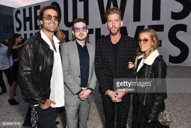 Oli Benz Alex Soros Adam Spoont and Sasha Benz attend The 24th Annual Watermill Center Summer Benefit Auction at The Watermill Center on July 29 2017...