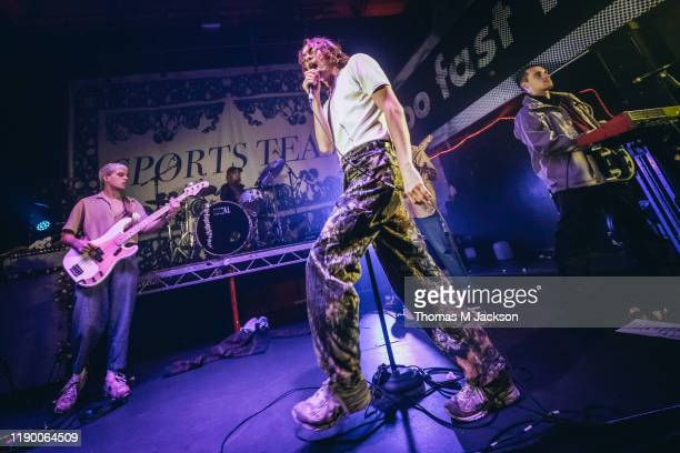 Oli Dewdney Alex Rice and Ben Mack of Sports Team performs on stage at on November 25 2019 in Newcastle upon Tyne England