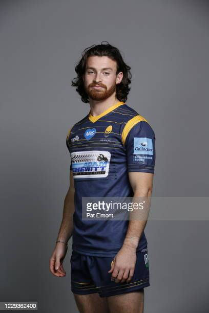 Oli Morris poses for a portrait during the Worcester Warriors squad photo call for the 202021 Gallagher Premiership Rugby season on on October 28...
