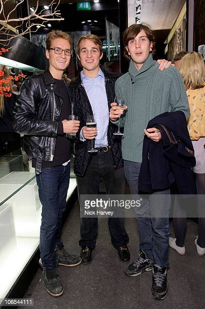 Oli Proudlock James Cadisch and Max Graham attend the UK launch of Moncler at Moncler Store on November 4 2010 in London England