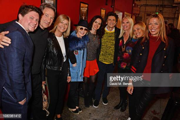 Oli Sones Michael Brandon Glynis Barber Lulu Sally Wood Ronnie Wood Anneka Rice Mika Simmons and Heather Kerzner attend the press night after party...