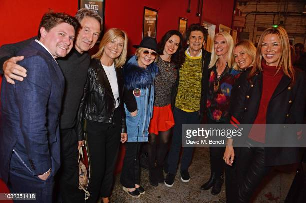 Oli Sones, Michael Brandon, Glynis Barber, Lulu, Sally Wood, Ronnie Wood, Anneka Rice, Mika Simmons and Heather Kerzner attend the press night after...