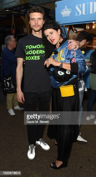 Oli Wennink and Diana Gomez attend the Shark Shack Opening an exclusive pop up store designed by Philip Colbert and The Rodnik Band to celebrate...