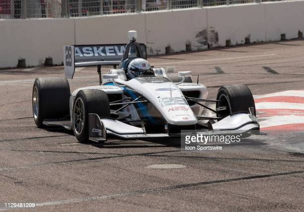 Olicer Askwe takes 3rd during the Indy Lights Race of St Petersburg on March 9 at the Streets of St Petersburg in St Petersburg FL