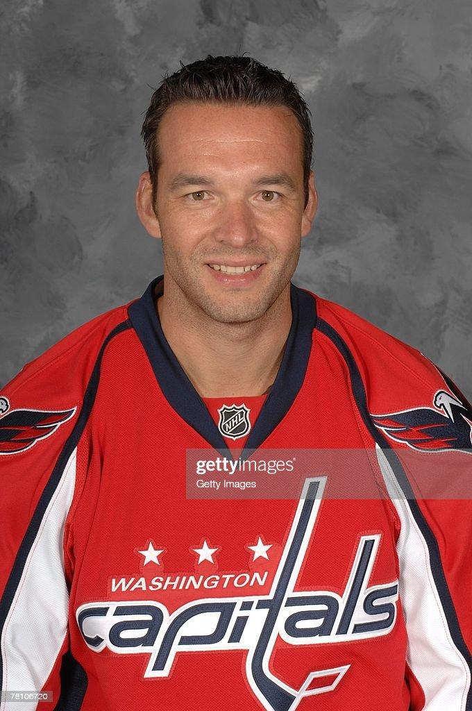 Olie Kolzig of the Washington Capitals poses for his 2007 NHL headshot at photo day in Washington, D.C.