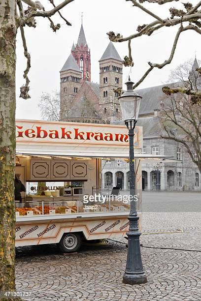 Oliebollen food booth at the Vrijthof in Maastricht