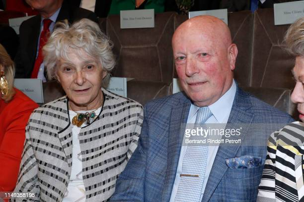 Olimpia Torlonia and Baron Francois Xavier de Sanbucy de Sorgues attend the Installation of Muriel MayetteHoltz elected Member of the Free section of...