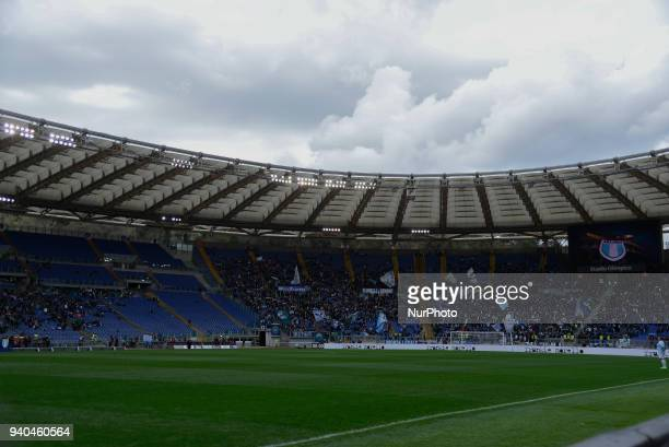 Olimpic stadium during the Italian Serie A football match between SS Lazio and Benevento at the Olympic Stadium in Rome on march 31 2018