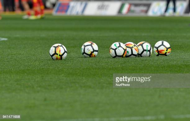 Olimpic stadium the official ball Serie A during the Italian Serie A football match between SS Lazio and Benevento at the Olympic Stadium in Rome on...