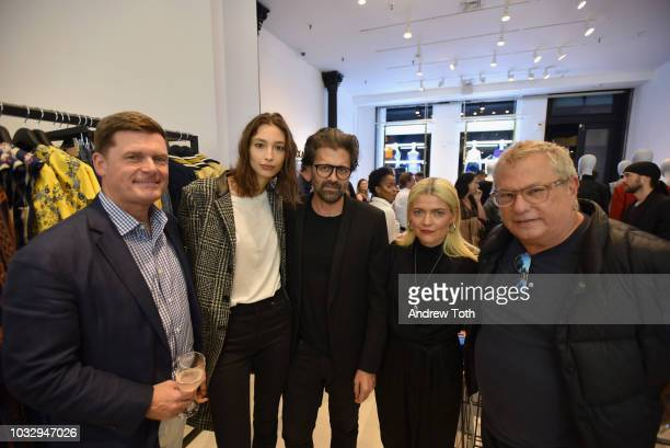 Olin Lancaster guest Chris Colls Kate Young and Marty Staff attend the celebration of the BCBGMAXAZRIA SoHo store opening with Kate Young Bernd...