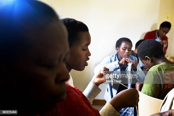 Oliva Ingabire participates in afterschool activities inside the Agahozo Shalom Youth Village on March 12 2009 in Rwamagana Rwanda The ASYV provides...