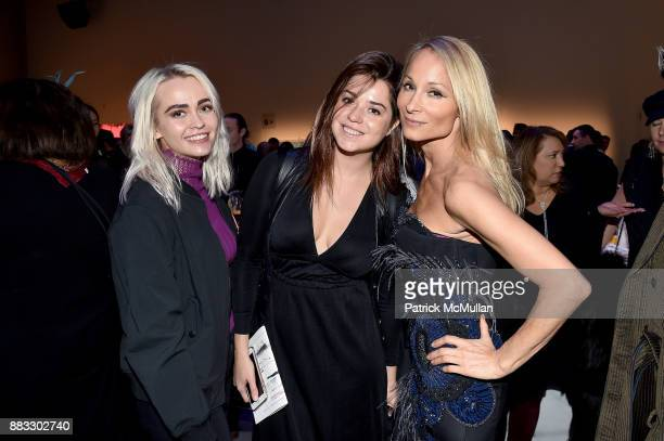 Olive Allen Daria Borisova and Indira Cesarine attend the 2017 ARTWALK NY Benefiting Coalition for the Homeless at Spring Studios on November 29 2017...
